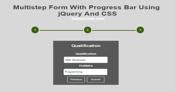 2019 Updated] Animated Progress Bar Using jQuery And CSS