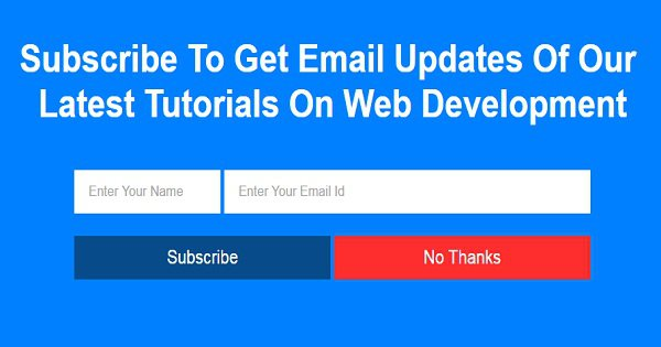 Create Newsletter SignUp Form Using jQuery And PHP On TalkersCode.com