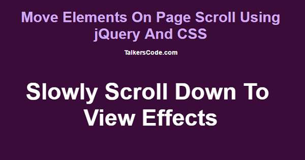 Move elements on page scroll using jquery and css for Css scrolling div