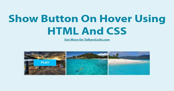 Show Button On Hover Using HTML And CSS