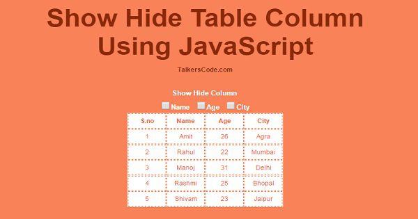 Add,Edit And Delete Rows From Table Dynamically Using JavaScript