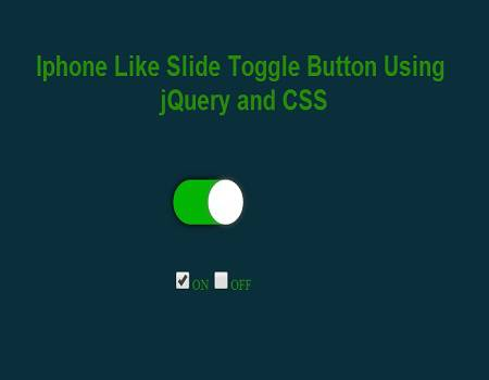 Iphone Like Slide Toggle Button Using jQuery CSS and HTML