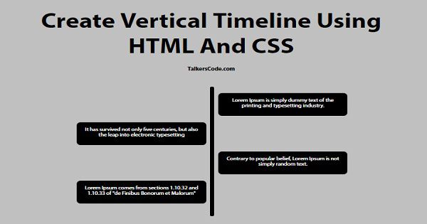 Create Vertical Timeline Using HTML And CSS