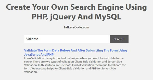 How to create a Search engine in PHP with MySQL